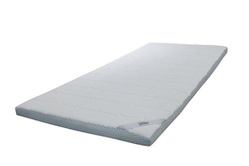 Ebitop Topper Ebi - A1.180.7 Matratzenauflage mit gestepptem, waschbarem Bezug, Viskose - Matratzenauflagen, viscoelastische Auflage, 180x200x7 cm, weiß