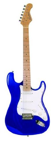 Main Street Guitars MEDCBL Double Cutaway Electric Guitar with 3 Single Coil Pickups by Main Street Guitars