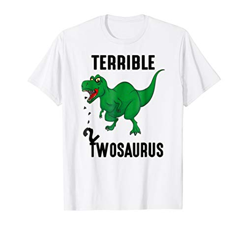 Funny Terrible 2 twosaurus t-shirt for kids