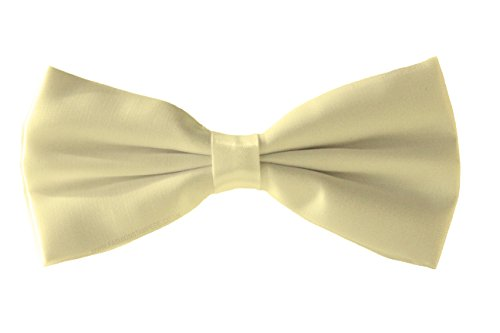 Shine Colours Tie Bow Satin Dickie Bow Fromal Fine Tie Various Cream Men's Tie Bow Smart OZFFPU