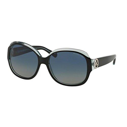 Michael Kors KAUAI MK6004 Sunglasses 30011H-59 - Black/Blue Frame, Blue Green - Green Kors Sunglasses Michael