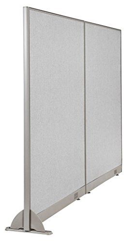 GOF Wall Mounted Office Partition, Large Fabric Room Divider Panel, 96 W x 72 H