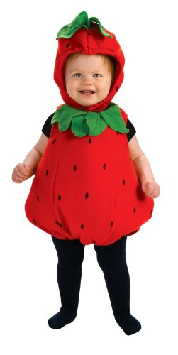 [Rubie's Costume Newborn Deluxe Berry Cute Costume, Red/Green, Infant] (Cute Halloween Costumes For Newborn Babies)