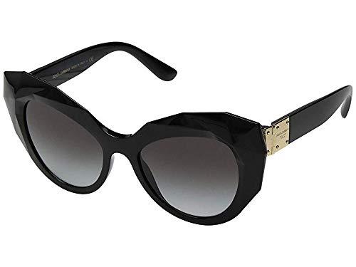Dolce & Gabbana Women's Geometric Oversized Cat Eye Sunglasses, Black, One Size