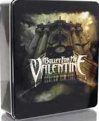 BULLET FOR MY VALENTINE SCREAM AIM FIRE T SHIRT IN A TIN