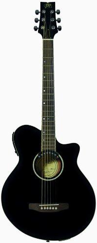 JB Player JBEA35BK Acoustic Electric Guitar, Black (Jb Player Acoustic Electric Guitar)
