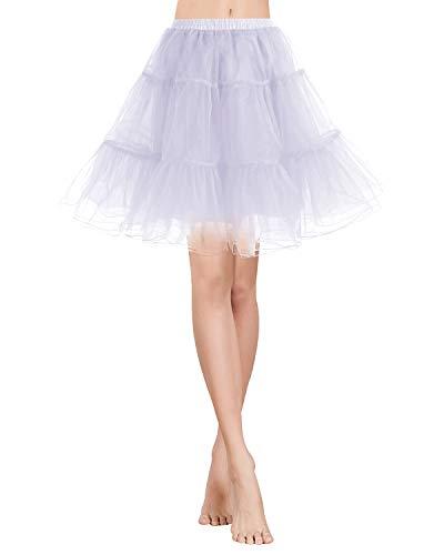 Gardenwed Kurz Damenrock 1950 Petticoat Reifrock Unterrock Tutu Minirock Ballett Tanzkleid Underskirt Crinoline für Rockabilly Kleid