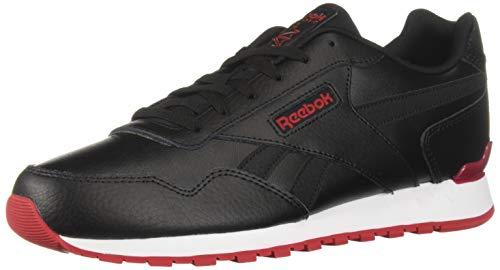 (Reebok Men's Classic Harman Sneaker, Black/Excellent red/White, 10 M US)