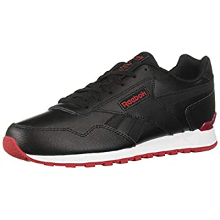 Reebok Men's Classic Harman Run Sneaker, Black/Excellent red/White, 10 M US