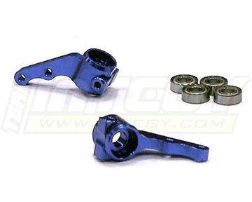Integy RC Model Hop-ups T7996BLUE Steering Blocks II for 1/10 Electric Slash 2WD,Stampede 2WD,Rustler 2WD & Bandit (Steering Integy Block)