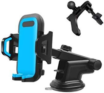 車の電話ホルダー、多機能カーナビゲーションフレーム付きインストルメントパネルエアアウトレットフロントガラス (色 : E)
