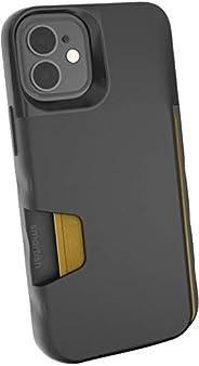 Smartish iPhone 12 Mini Wallet Case - Wallet Slayer Vol. 1 [Slim + Protective] Credit Card Holder (Silk) - Bla