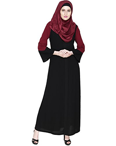 Modest Forever Folksy Black Abaya Burkha for Women
