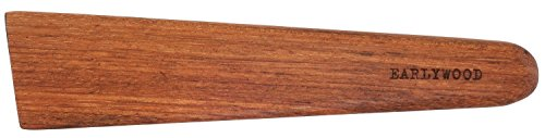 (Earlywood 10 inch Handmade Wood Cooking Utensil for Kitchen, Multi-Purpose Wood Scraper and Egg Turner, Cast Iron Scraper and Wood Saute Spatula - Made in USA - Jatoba)