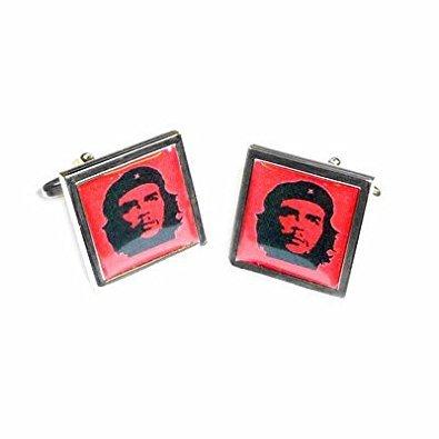 Color negro y rojo Che Guevara Mancuernas cuadradas con Bolsa regalo cuadrado de nuevo: Amazon.es: Joyería