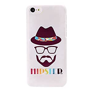Hipster Gentlemen Pattern Plastic Hard Case for iPhone 5C