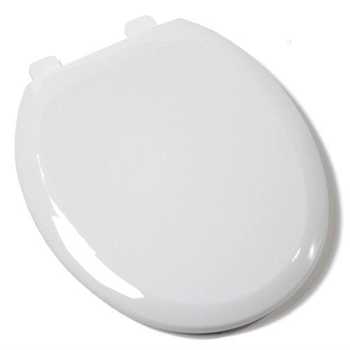 - Comfort Seats C1B3R4S-00 EZ Close Deluxe Plastic Toilet Seat, Round, White
