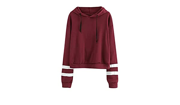 Clearance, SFE Women Casual Long Sleeve Hoodies Stripe Hooded Pullover Sweatshirt Tops at Amazon Womens Clothing store: