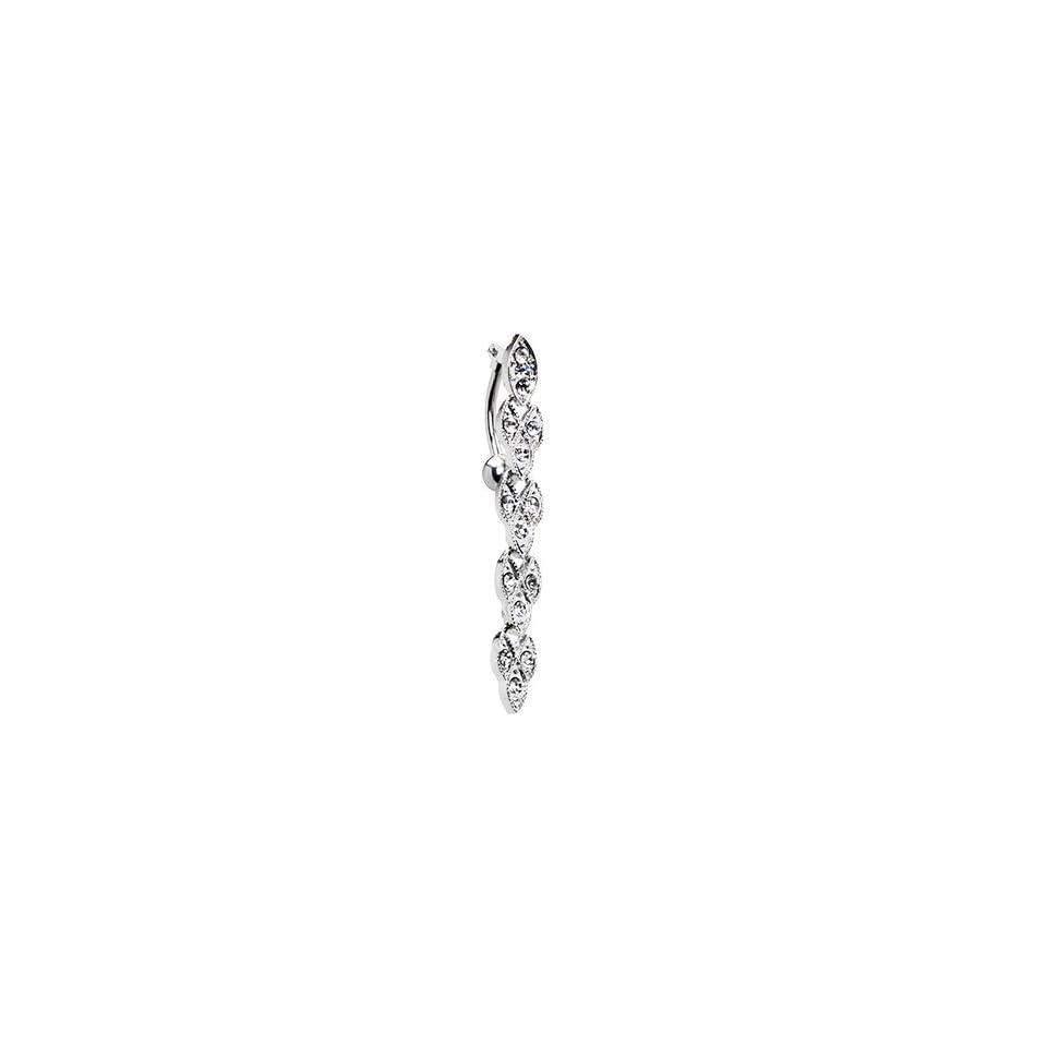 Top Mount Crystalline Gem Distinction Drop Belly Ring