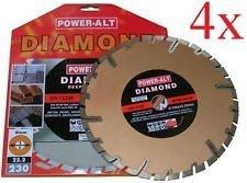 4 Stück Diamant Trennscheiben 230 mm GRANIT- BETON-KLINKER von Power-Alt #
