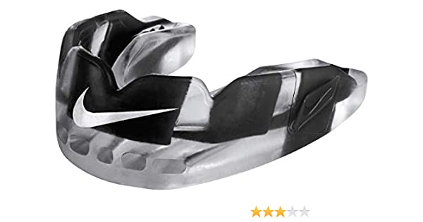 Nike Hyperstrong Youth Mouthguard Dual-Density Protection Black //White OSFM NEW
