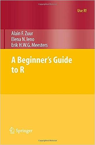 A Beginner's Guide To R por Alain Zuur epub