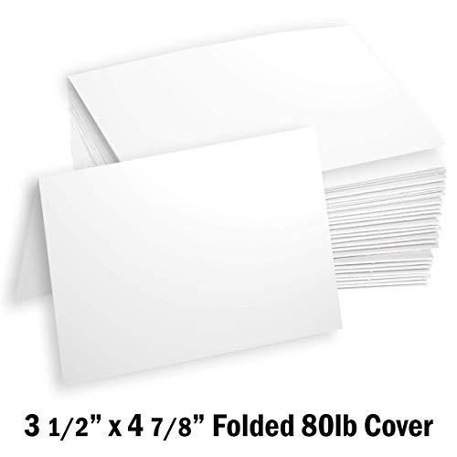 Hamilco White Cardstock Thick Paper - 3 1/2 x 4 7/8