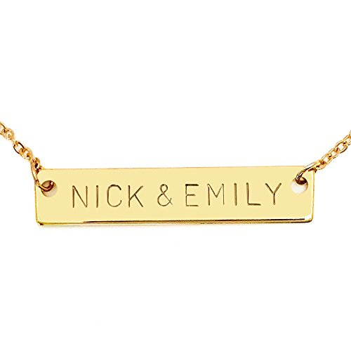 Same Day Shipping Before 3 PM EST Personalized Necklace Name Plate Bar Necklace Bridesmaid Gift Initial Necklace Your Name Necklace