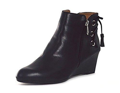 Adrienne Wedge Womens Boots Black Moltz Vittadini rHfwFvr