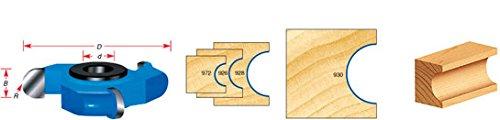 Amana Tool 926 Carbide Tipped 3-Wing Flute (Convex) 1/2 Flute x 1/4 R x 2-5/8 D x 1/2 CH x 1/2 & 3/4 Bore Shaper Cutter