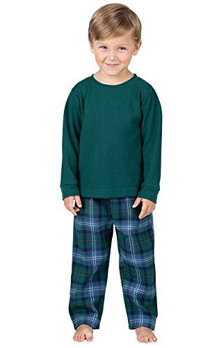PajamaGram Heritage Plaid Thermal-Top Toddler Pajamas ()