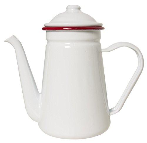 Enamelware Coffee Pot ~ Red Rim ~ Food (Enamelware Coffee)