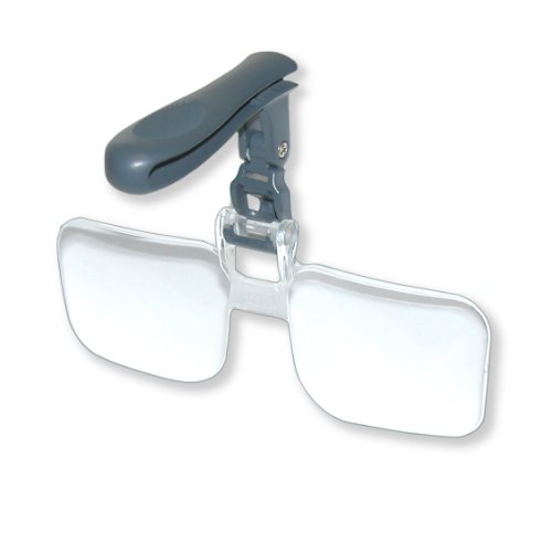 Carson Optical VisorMag 1.75x Power (+3.00 Diopters) Clip-On Magnifying Lens for Hats - That Up Glasses Flip