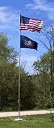 25ft Outdoor Flagpole