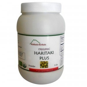 Organic Haritaki Powder – Kailash Herbals – USDA Certified Organic, 1 Pound – Terminalia chebula – Detoxification & rejuvenation for Vata*