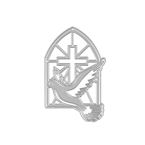(Metal Cutting Dies Stencil Metal Template for DIY Scrapbook Album Paper Card (The Cross and Dove))