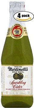 (Martinelli's Gold Medal Sparkling Cider, 8.4 OZ Jar (Pack of 4, Total of 33.6)