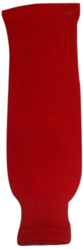 dogree-hockey-solid-color-knit-hockey-socks-red-youth-20-inch