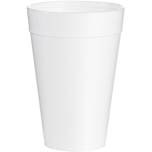 Dart 32TJ32 Foam Drink Cups, 32oz, White, 25 per Bag (Case of 20 Bags) ()
