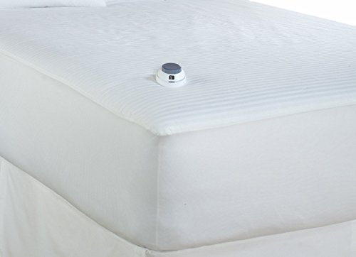 (Serta 233-Thread Count Waterproof Low-Voltage Electric Heated Full Mattress Pad, White)
