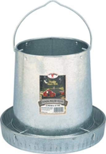 Miller 9112 12lb. Galvanized Hanging Poultry Feeder