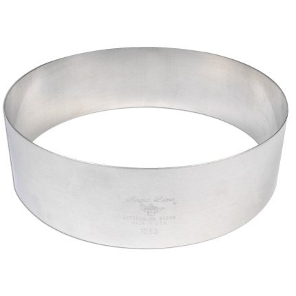 Parfait Aluminum Cake Rings SR-33, 3'' x 9'', 9''x3''