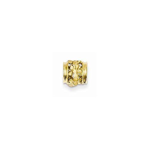 Core Gold 14k Diamond-Cut Mini Plumeria Barrel Chain - Slide Chain Barrel