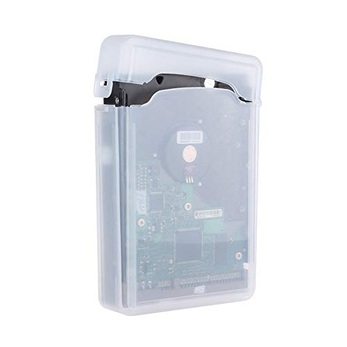 Hard Disk Accessory Essentials for Transparent HDD Hard Disk Drive Protective Case Cover Box Storage for IDE/SATA (Disk Hard Drive Transparent)