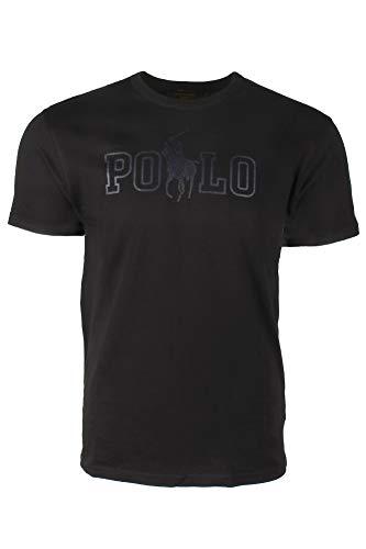 Polo Ralph Lauren Mens Crew Neck Graphic Logo T-Shirt (XL, Black) (Ralph Lauren Tee)