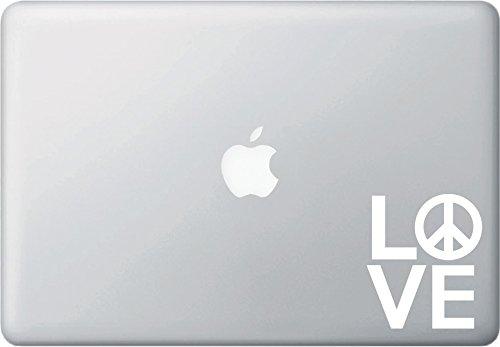 Love Sculpture with Peace Sign - Macbook or Laptop Decal - Yadda-Yadda Design Co. (3