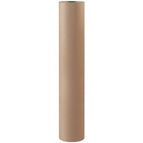 Partners Brand PKPB4850 Bogus Kraft Paper Roll, 50#, 48″ x 720′, Gray