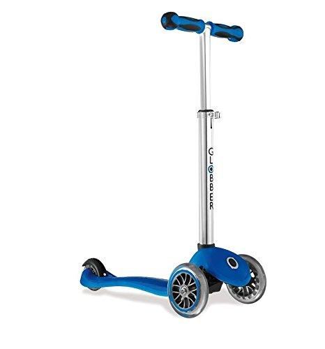 My free Globber 2C patinete con 3 ruedas azul/gris: Amazon ...