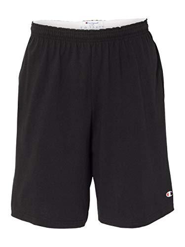 Champion Men's Jersey Short With Pockets, Black, X-Large