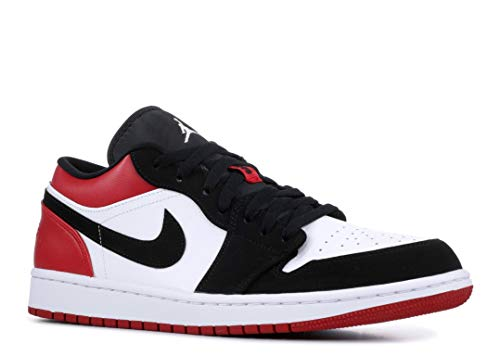 - Jordan Air 1 Low (White/Black-Gym Red, 8)